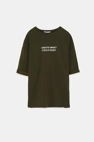 Zara Trafaluc 'Create what could exist' T-shirt