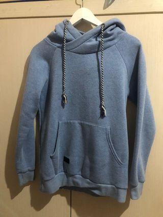 Laking 淺藍色帽T hoodie