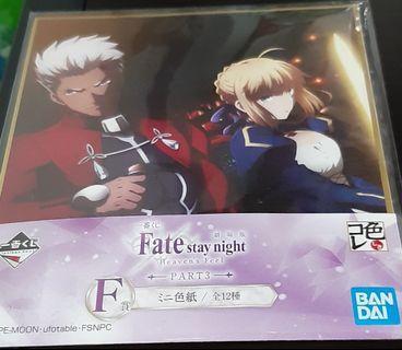 fate/stay night一番賞色紙saber紅A