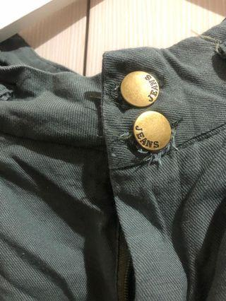 軍綠貼身長褲