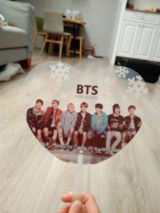 BTS防彈少年團 團體 愛心透明扇