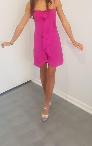 Wish silk dress hot pink size 8