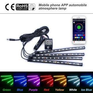 [PO] Interior Leg Room Cigg port 12 Multiple Colour LED Light Phone Controlled