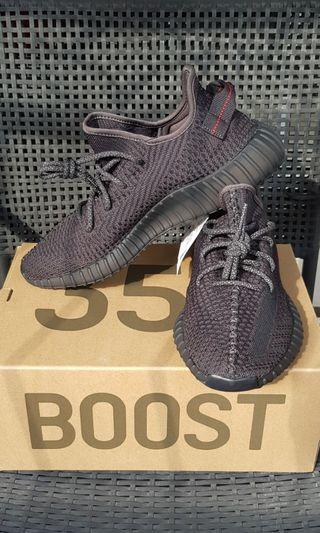 🚚 Adidas Yeezy 350 V2 Black Static Non-reflective