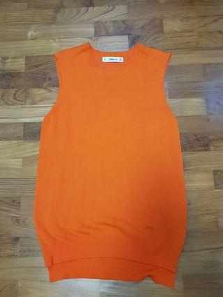 🚚 Zara Knitted Orange Top