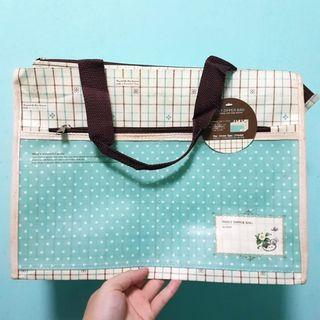 Mint Green Shopping Daily Zipper Bag
