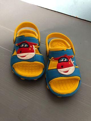 Dulux sepatu sendal karet model crocs pesawat airplane size 24 anak