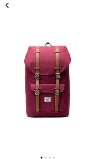 Herschel Little America backpack wine red