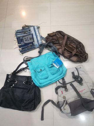 🚚 BAGS FOR SALE, ONE BRAND NEW, . OFFER YOUR PRICE.