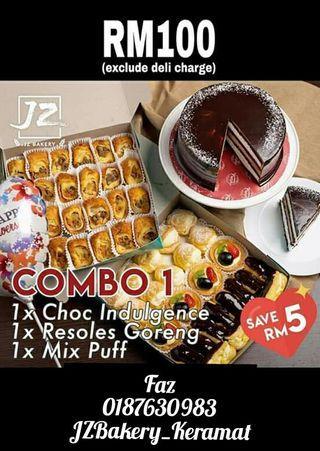 COMBO CAKE BY JZ BAKERY