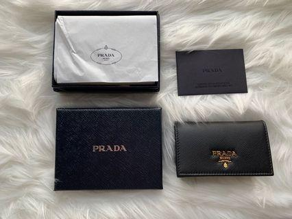 Prada Saffiano Metal Card Holder