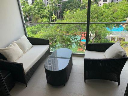 Outdoor sofa lounge coffee table set