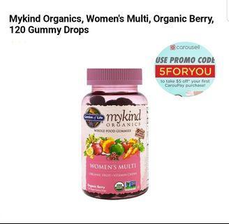 Mykind Organics women's multi vitamin 120 gummy