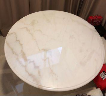 Round Natural Marble Dining Table