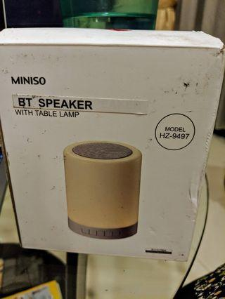 🚚 Miniso Bluetooth speaker with table lamp