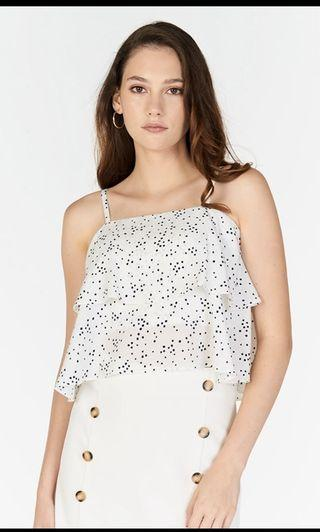 🚚 TCL Adalle Ruffled Dotted Top