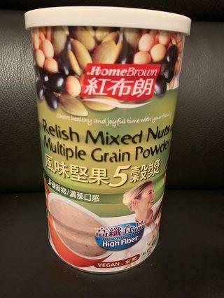 台灣紅布朗風味堅果5榖漿 (500公克)