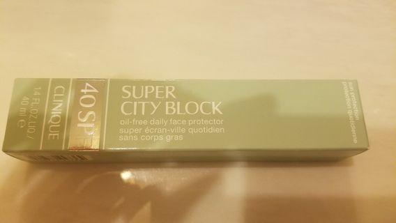 100% 全新New Clinique Super City Block Oil-Free Daily Face Protector Broad Spectrum SPF 40