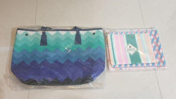 Tote bag and pouches