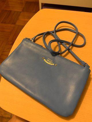全新日本Ans 淺藍色斜孭袋