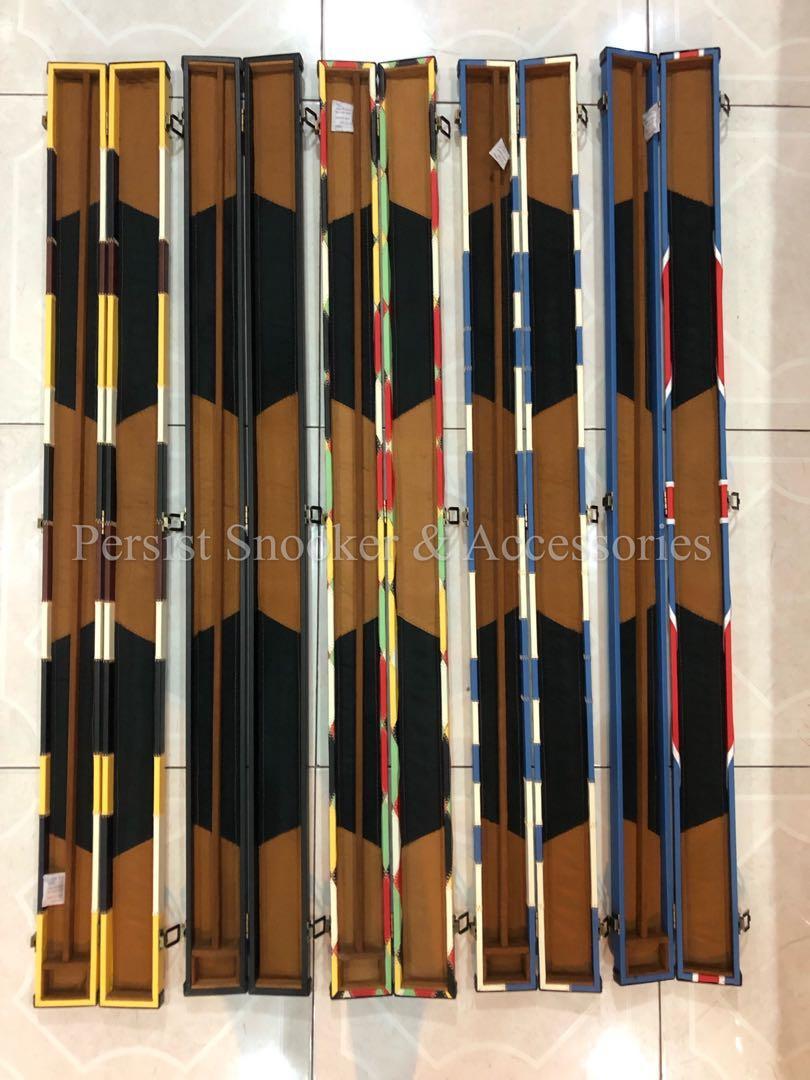 3/4piece Leather Snooker Cue Case