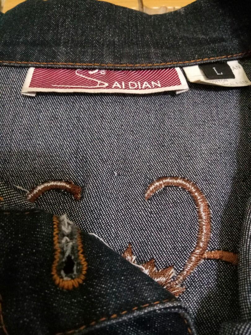 精緻刺繡牛仔外套