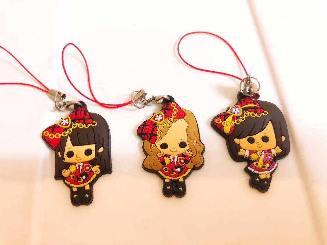 Anime / Comic soft plastic pendant Keychain (included 3)