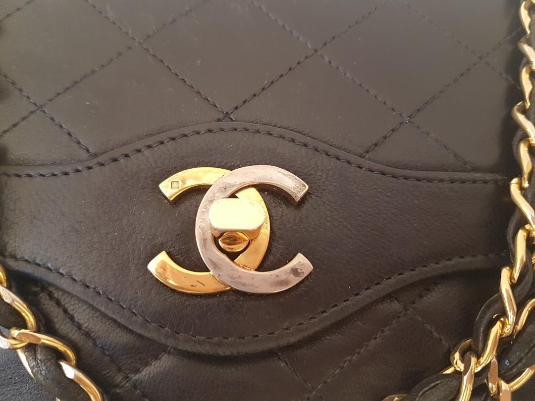 Authentic chanel vintage medium black bag
