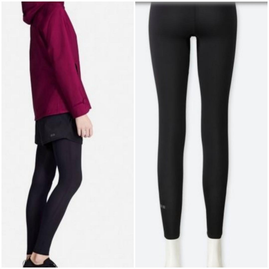 Black Leggings Tight Uniqlo Airism Comfort Unlimited Used In Good Condition Women S Fashion Clothes Pants Jeans Shorts On Carousell