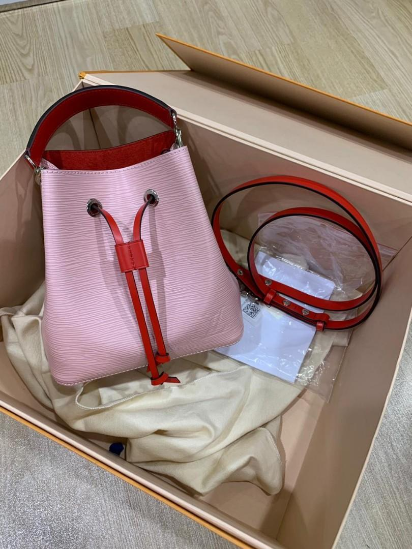 BNIB (complete set with rec mei 2019) LV NEONOE BB pink/red (20x20x13) REPRICED lagi