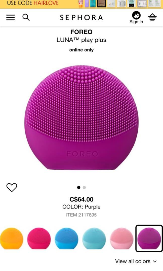 Brand New Foreo Luna Play Sonic Cleansing Device(obo)