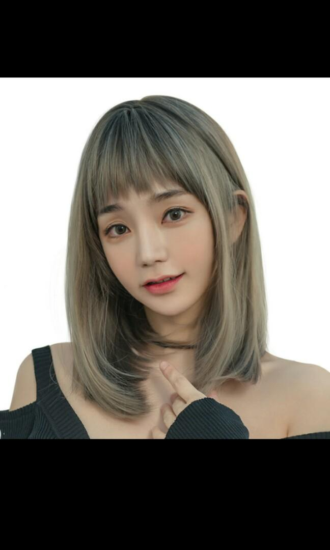 No Instocks Preorder Korean Style Natural Air Bangs Straight Shoulder Length Wig Waiting Time 15 Days After Payment Is Made Chat To Buy To Order Health Beauty Hair Care On Carousell