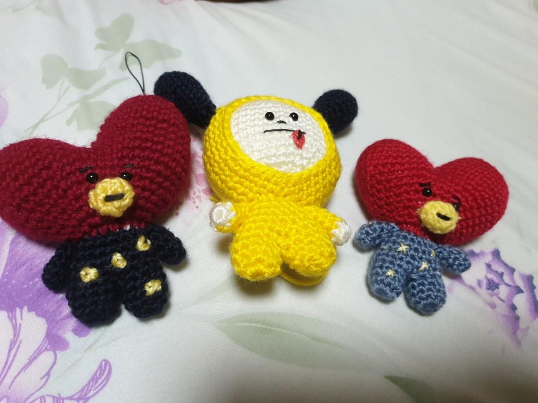 Tata and Chimmy from BTS Line Character BT21 Amigurumi by ... | 810x1080