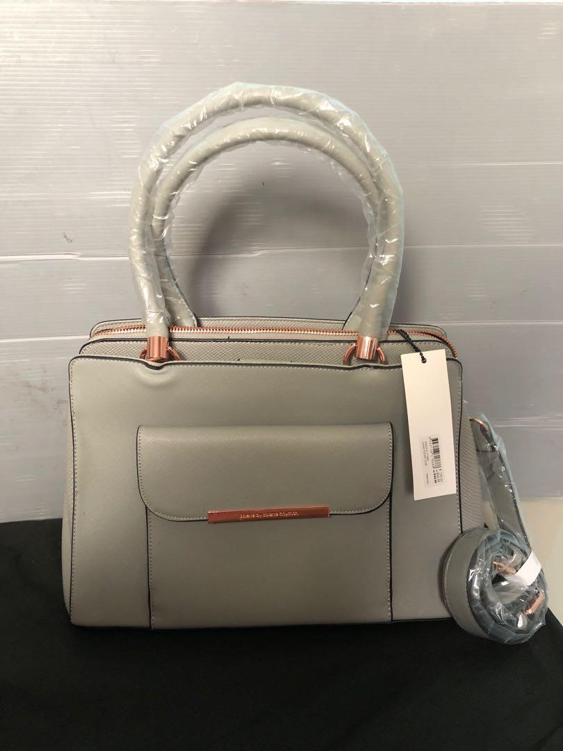 Colette collette abu original tas wanita kerja 2in1 sling ada tali panjang