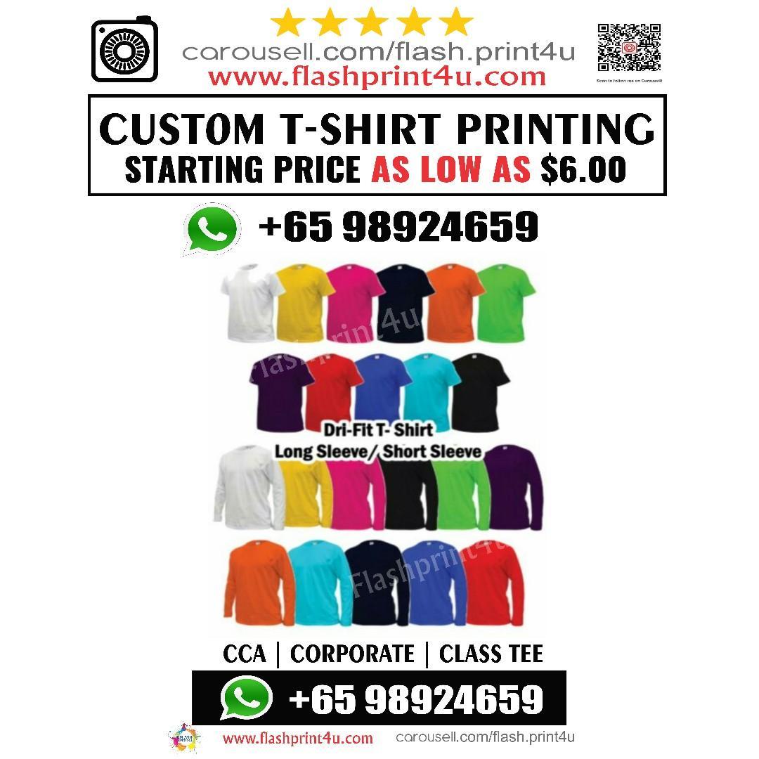 Shirt printing service