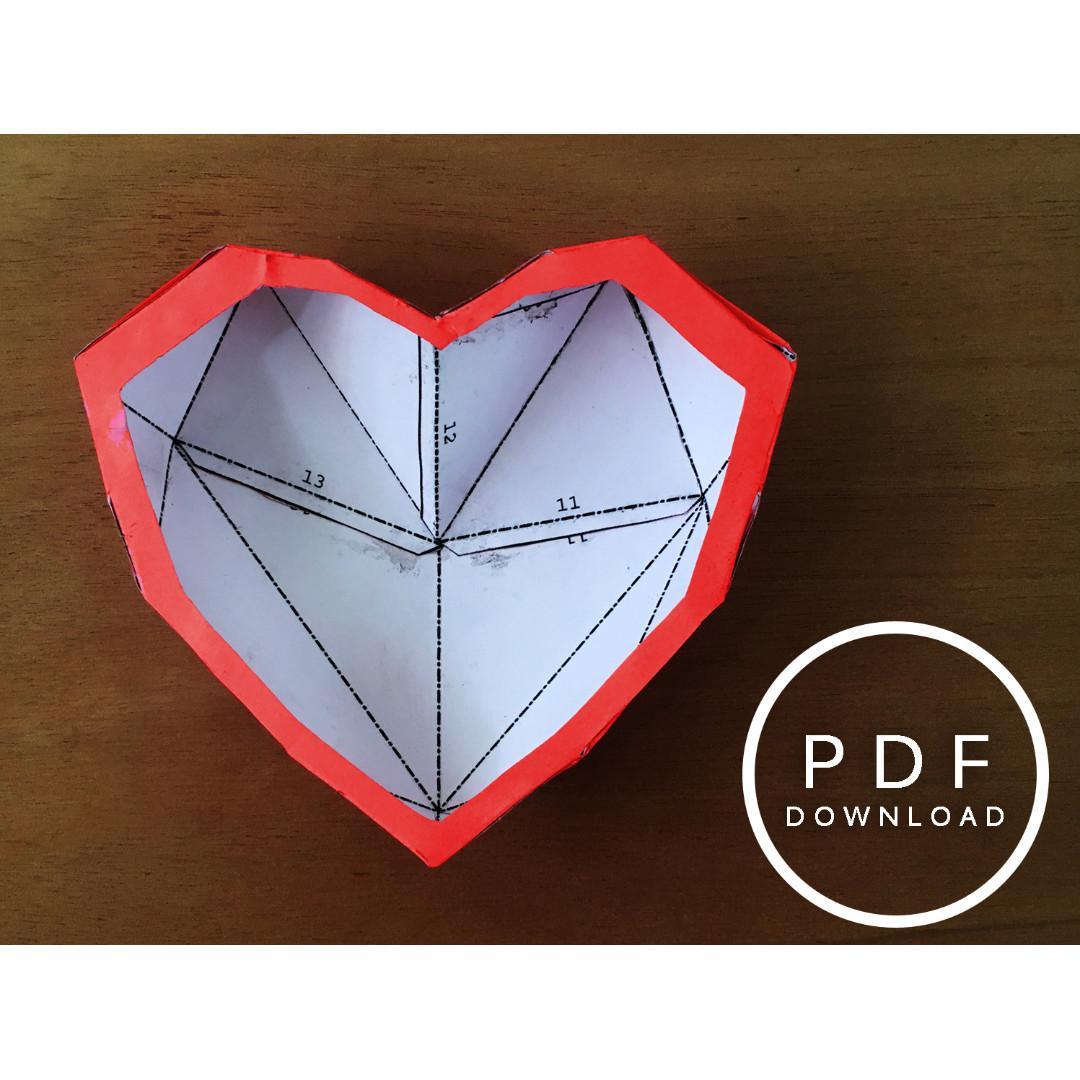 3D Paper Heart Tutorial - Valentine's Day DIY - Paper Kawaii - YouTube | 1080x1080