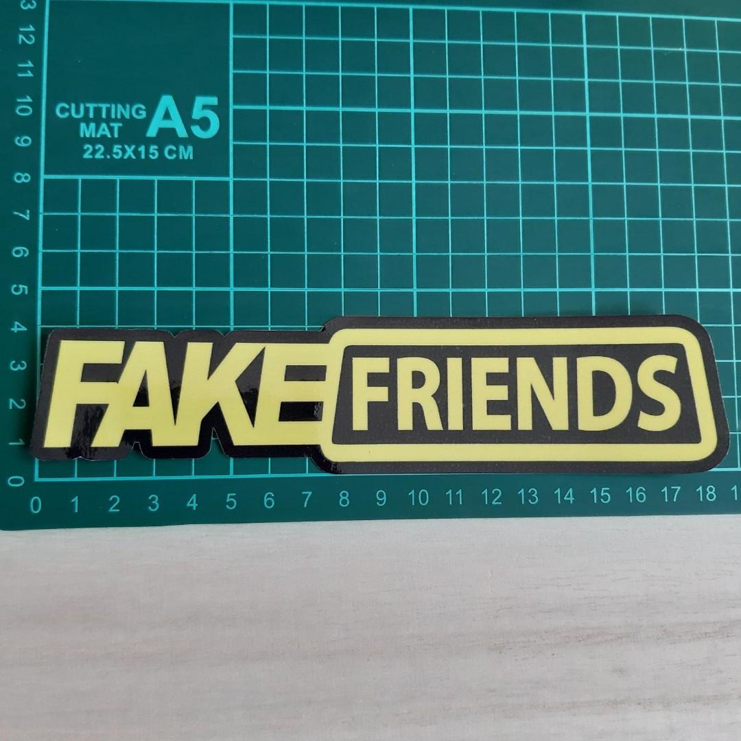 new concept a7a3d b2391 Fake Friends x Fake Taxi Parody - Vinyl Stickers, Bicycles ...