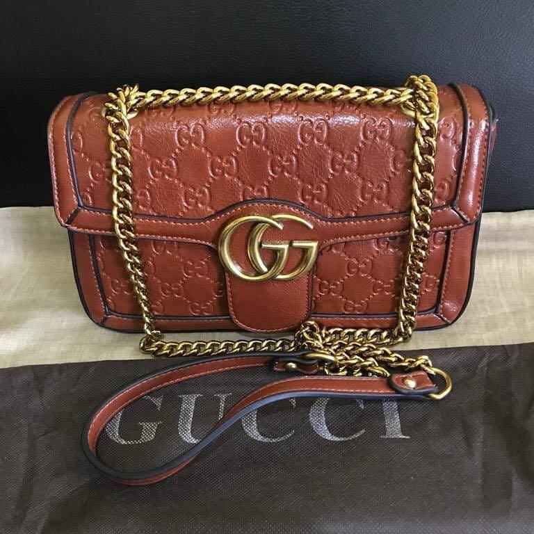 Gucci Dyno emboses made in italy with serial number bahan full kulit asli lentur & bagus