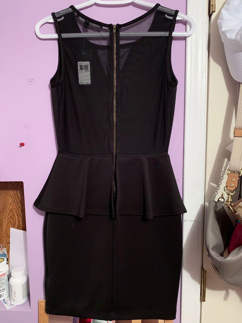 Guess Black Zippered Pencil Skirt Dress ( Size S)(obo)