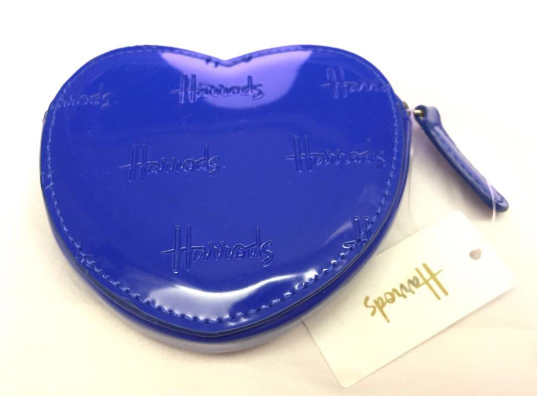Harrods blue heart-shaped coin bag 藍色心形散銀包 #sellmybags