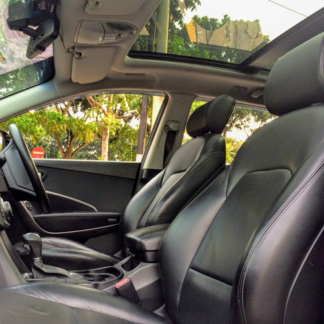 Hyundai Santa Fe 2.2 CRDi AT 2013 Hitam Dp 26,9 Jt SunRoof No Pol Genap