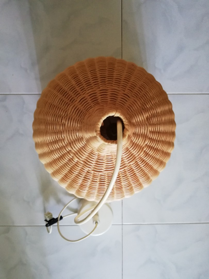 Ikea Leran Pendant Lamp Rattan Furniture Home Decor Lighting Supplies On Carousell