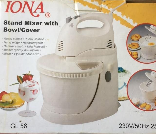 Iona Stand Mixer With Bowl Cover Home Liances
