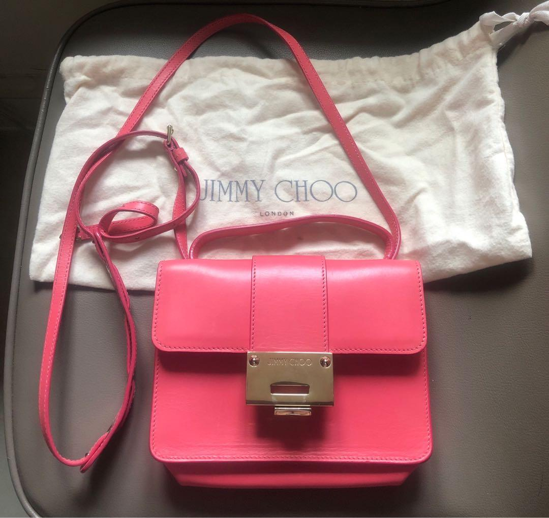 Jimmy choo REBEL pink crossbody JC女袋粉紅色斜背包