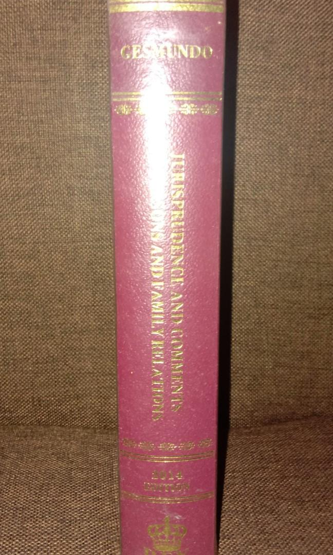 Law Books: Succession by Tolentino and Persons and Family Relations by Gesmundo