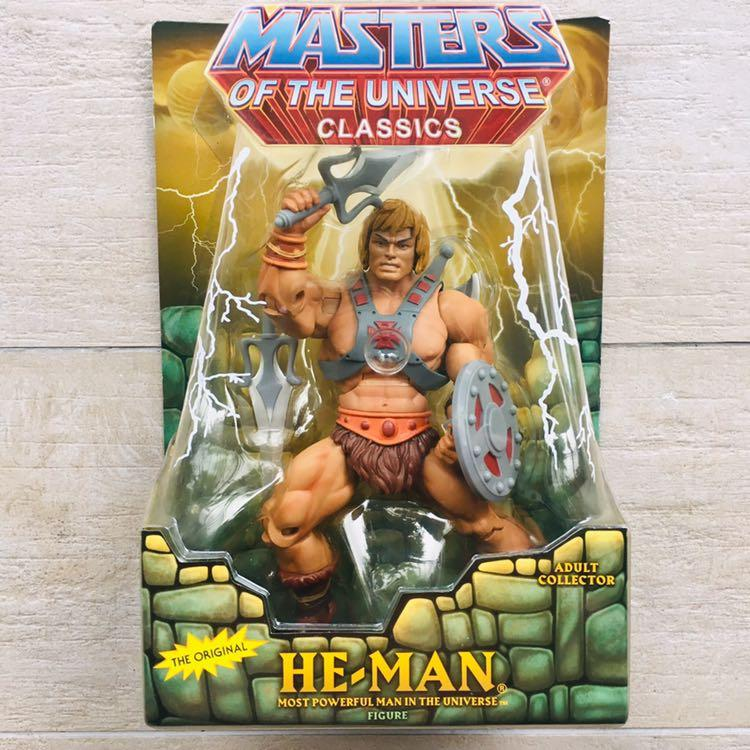 """He-Man Masters of the Universe He-Man Figure Super 7 Mattel Unpunched Card 5.5/"""""""
