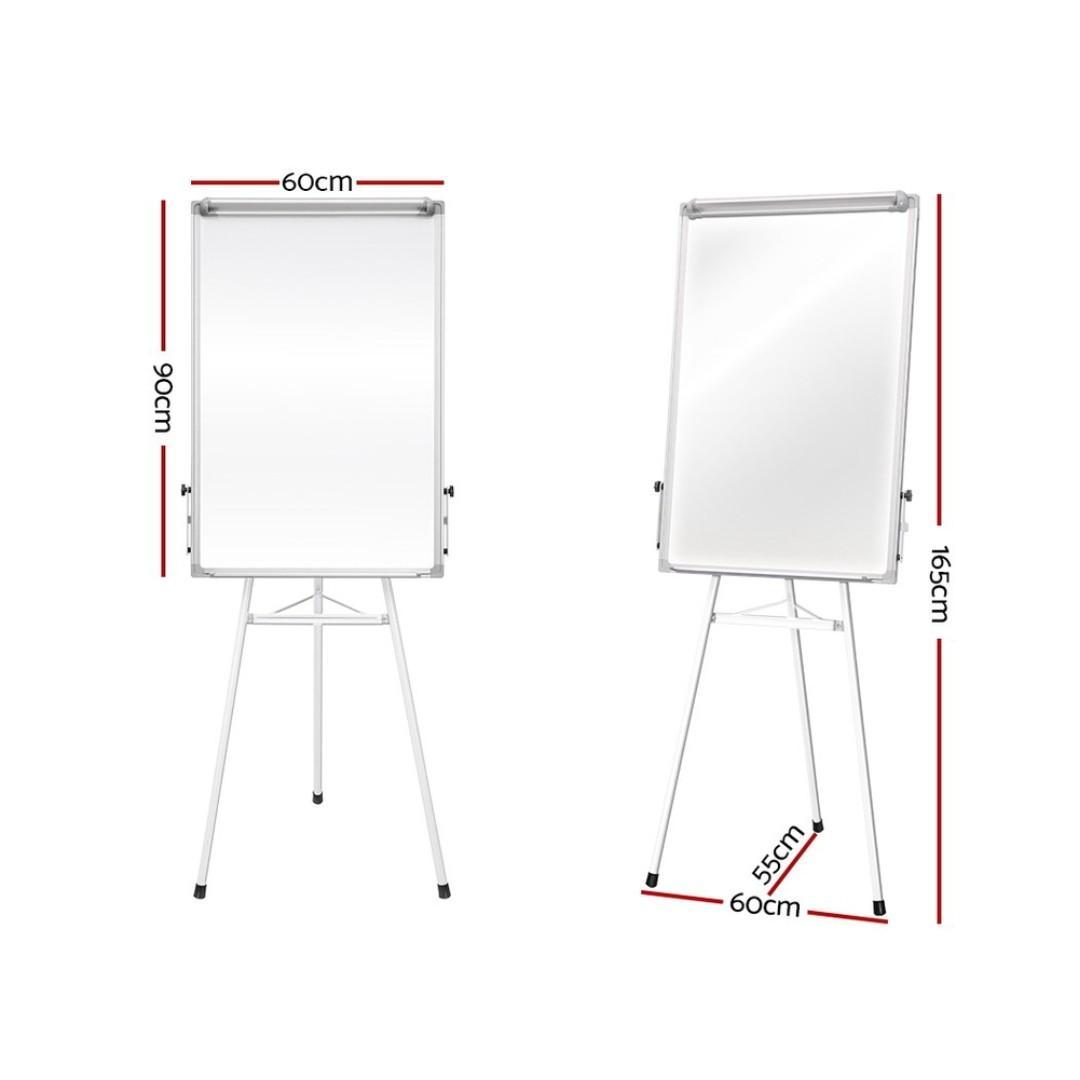 Mobile Whiteboard Portable Stand Tripod Magnetic Flipchart 60x90cm
