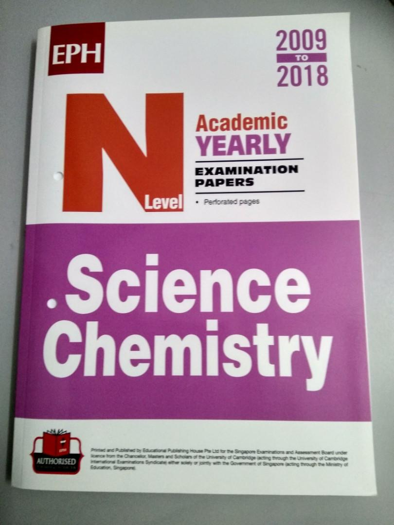 N Level Science Chemistry Past Years Exam Papers (tuition