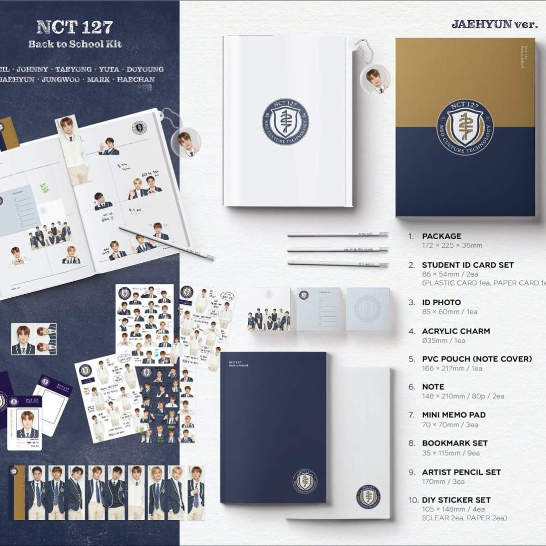 [non profit|11 street] NCT 127 / NCT DREAM / WAY V Back to School Kit
