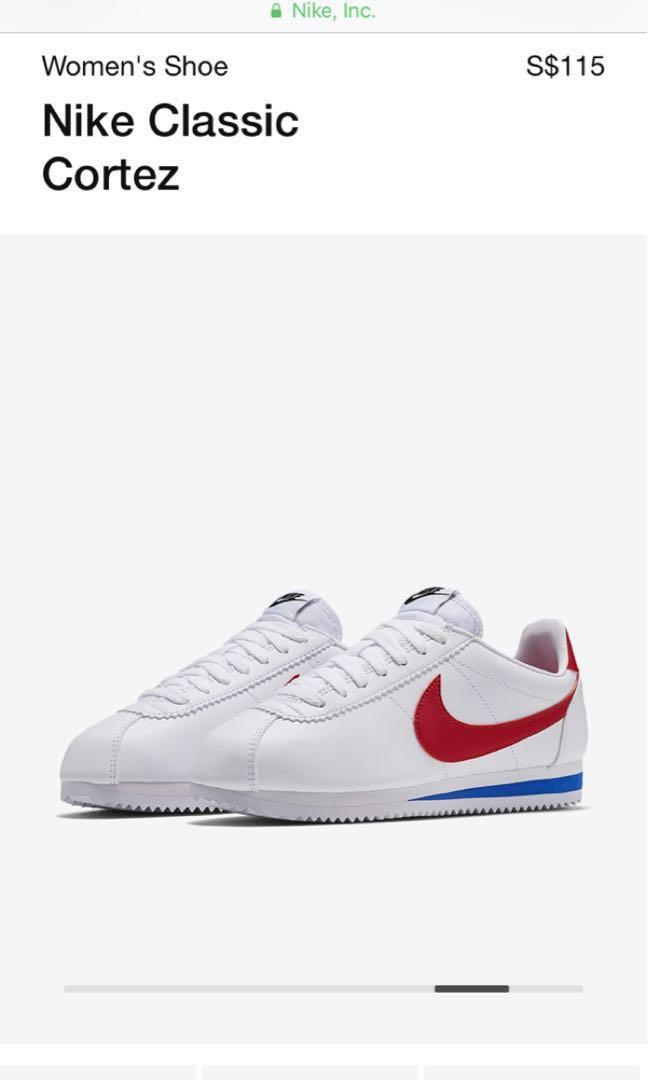 huge discount fcd83 1981d Nike Cortez white red blue, Women's Fashion, Shoes, Sneakers ...